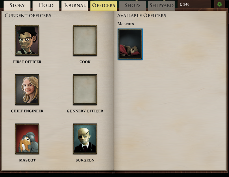 Sunless Sea Officers